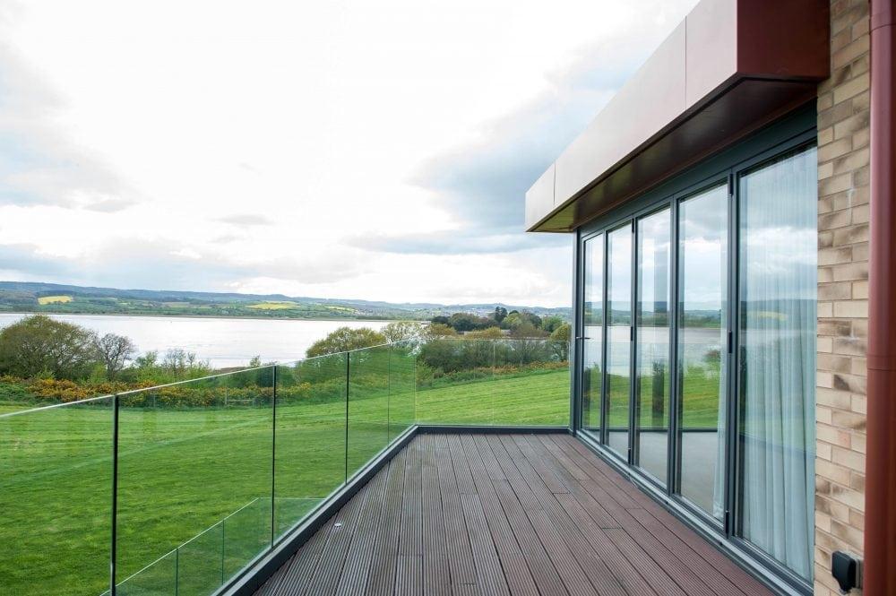 Aluminium Bi Folding Doors And Windows Overlooking The