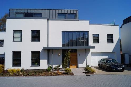 Devon new development featuring aluminium windows