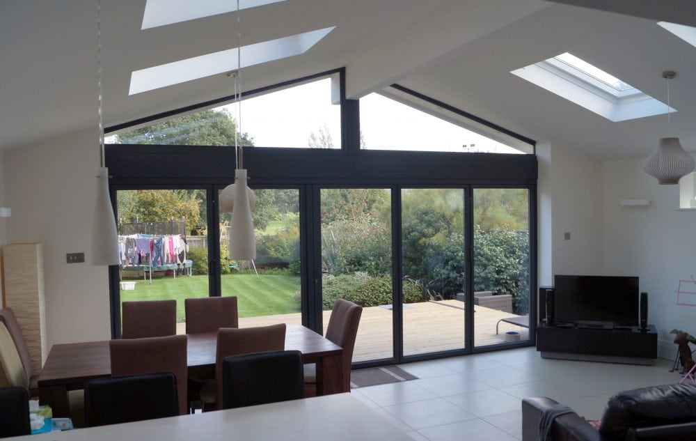 Single Storey Extension With Bi Folding Doors And Gable