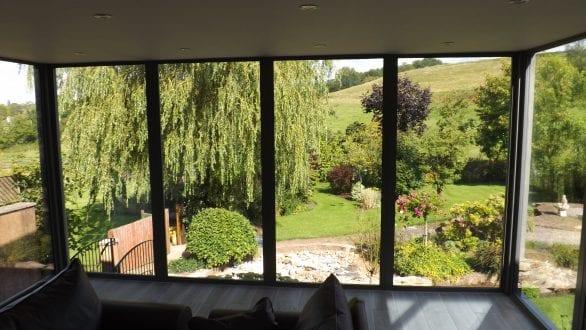 Floor to ceiling aluminium windows