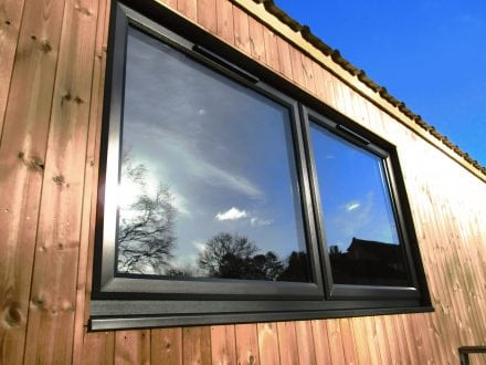 Double glazing - coloured PVCu windows