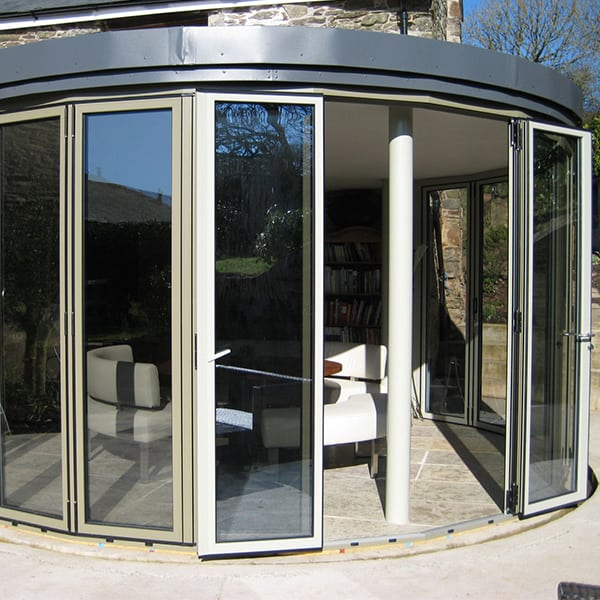 Faceted Bi Folding Door On Listed Building Extension In