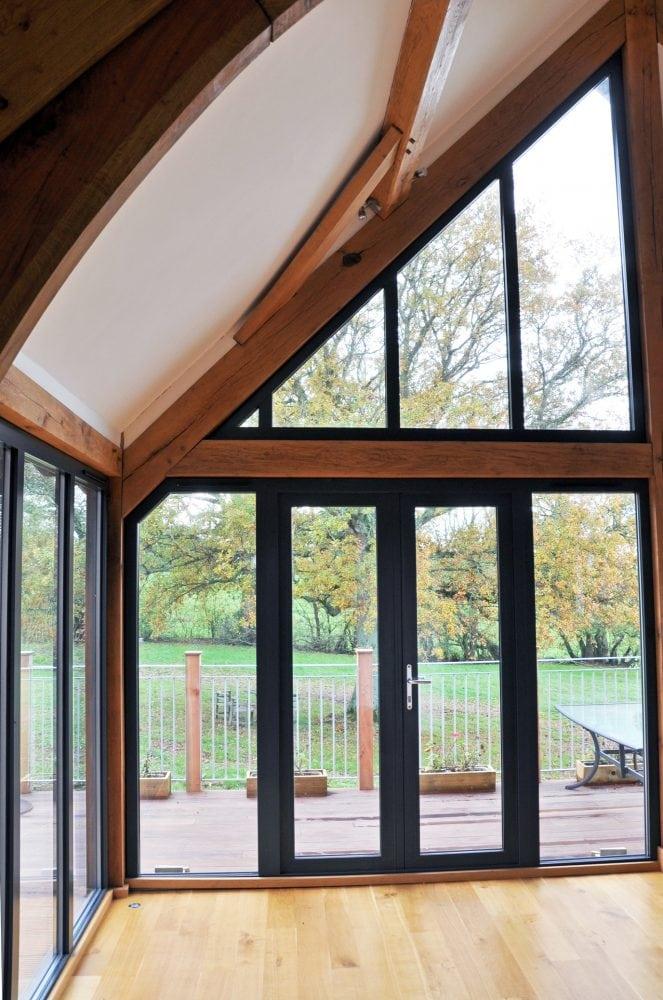 Ral 7016 Aluminium Floor To Ceiling Windows French Doors