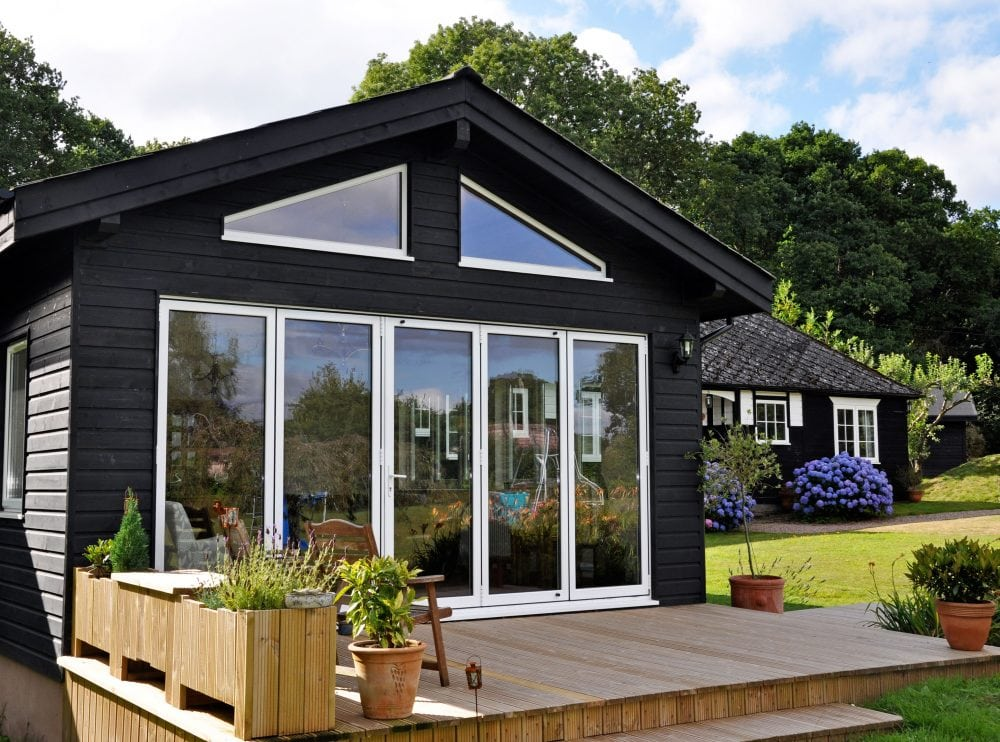 Aluminium Bi Folding Door And Gable End Windows In