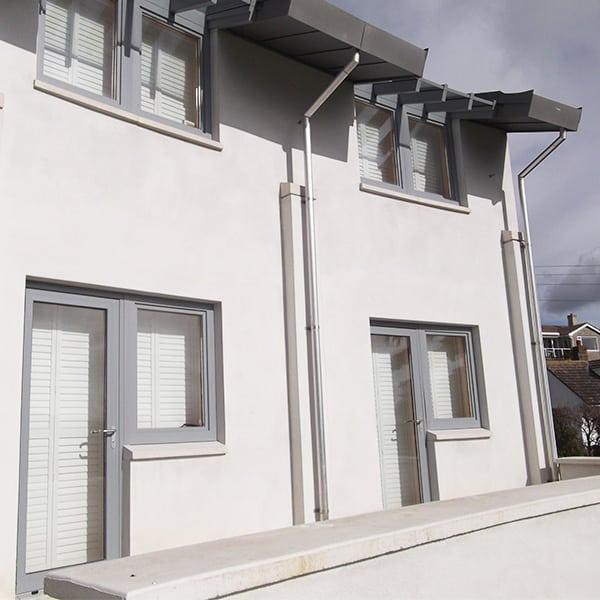 Aluminium Glass Roof Bi Folding Doors And Curtain Wall In