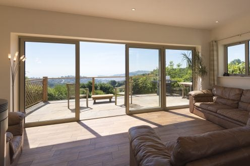 Bi-folding door - installed by Aspect Windows