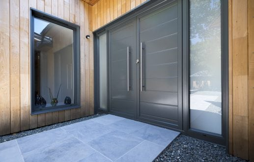 Double entrance doors in West Hill property - Aspect Windows