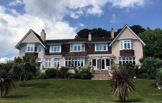 PVCu windows and doors replace traditional timber double glazing in Sidmouth property