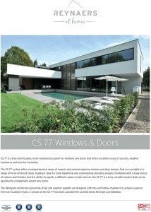 Reynaers CS 77 Windows & Doors