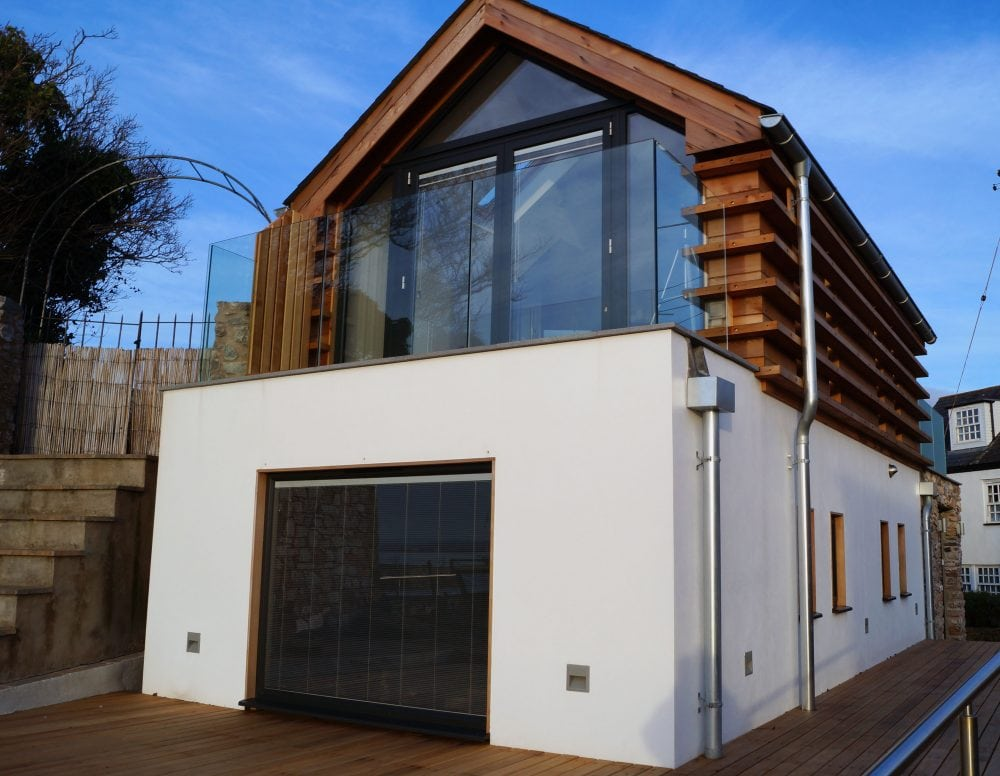 2 Pane Bi Folding Door Onto Balcony In Lympstone New Build