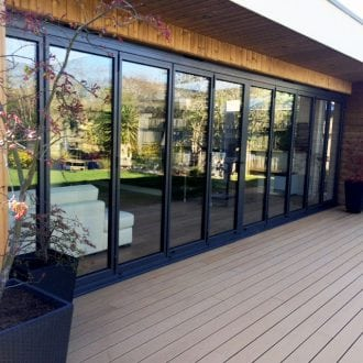 10 x panel bi-folding door - outside