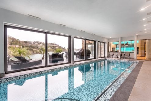 Lift and Slide Sliding Doors by swimming pool