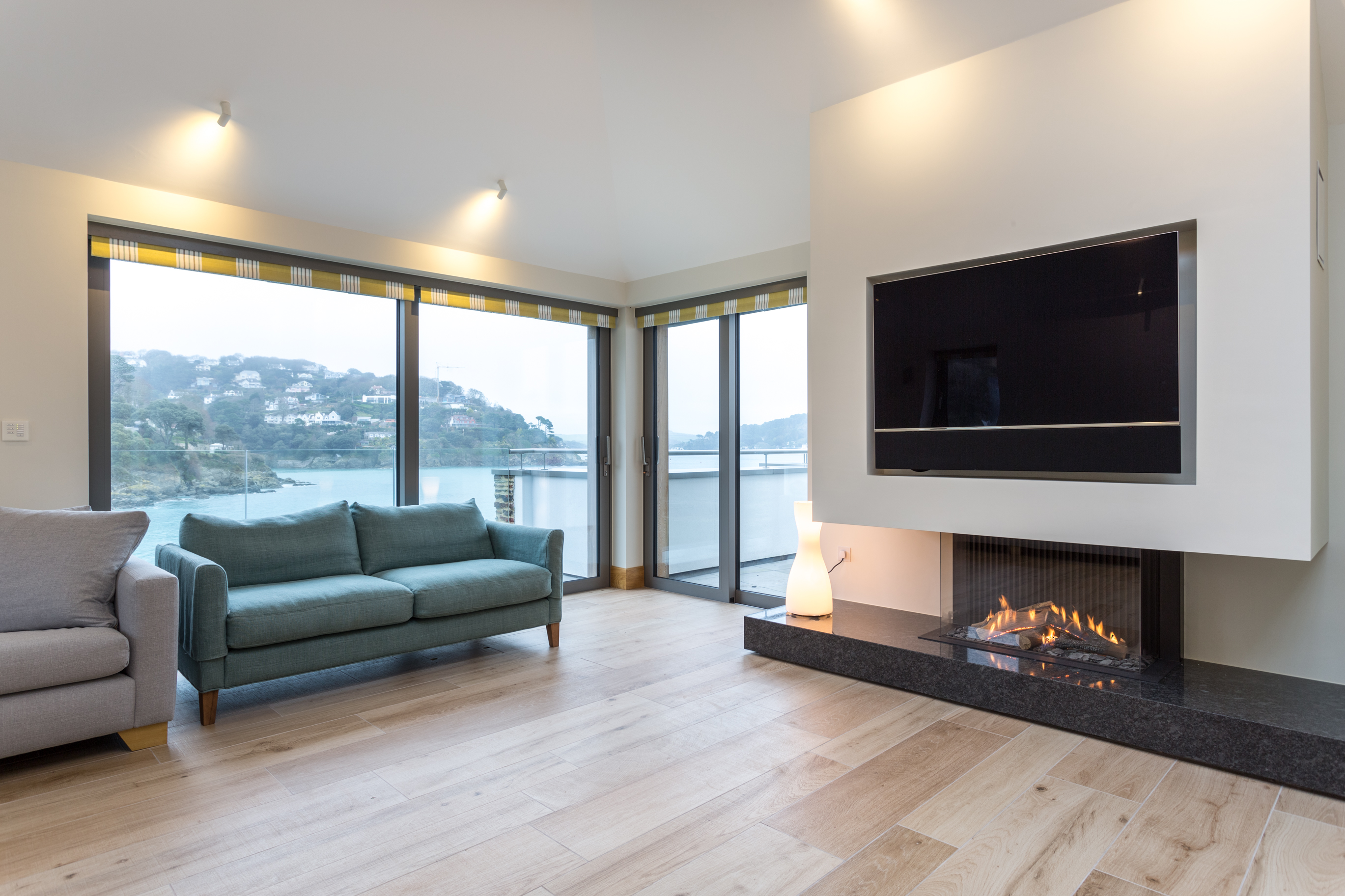 Sliding doors installed within a marine environment