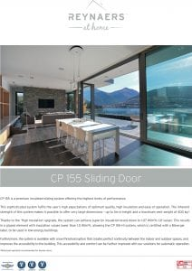 Reynaers CP 155 Sliding Door