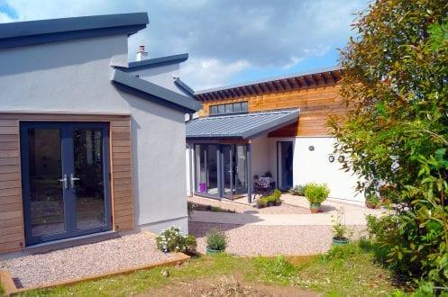 Contemporary new build with aluminium glazing