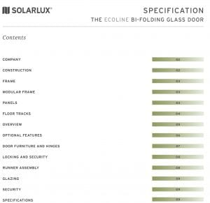 Solarlux - The Ecoline Bi-folding Glass Door Specification