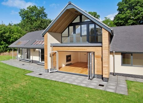 West Hill new build featuring bi-folding doors