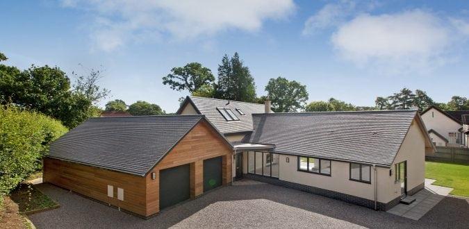 West Hill new build with grey aluminium windows