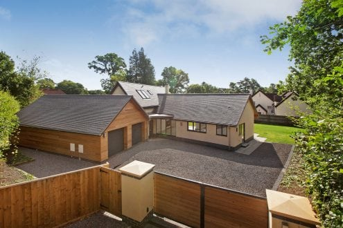 West Hill new build with aluminium windows and doors