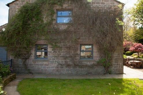 Grey casement window