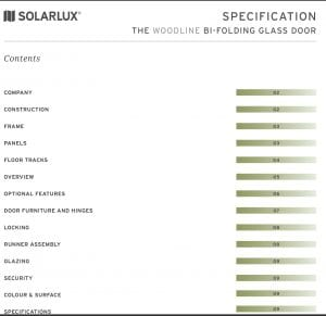Solarlux - Woodline Bi-folding Glass Door Specification
