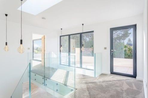 Anthracite Grey aluminium windows - Hallway