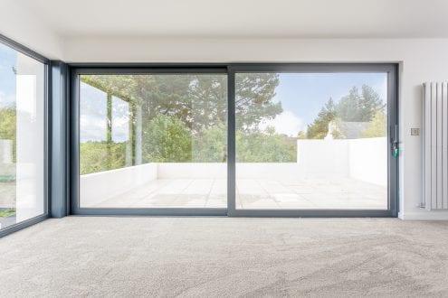 Large aluminium sliding doors