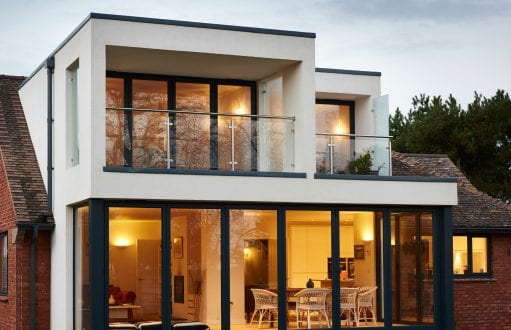 Bi-folding door - external view