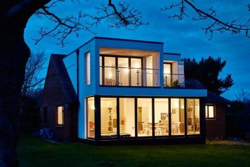 Contemporary Extension - Bi-folding doors - external view