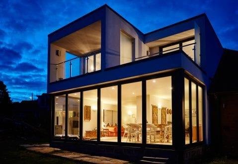 Bi-folding doors - external view