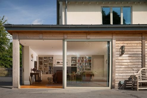 Letting the light in with large sliding doors