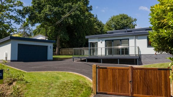 New build with aluminium glazing
