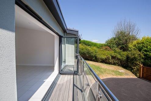 bi-folding doors onto balcony