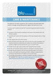 Blu - Care and Maintenance