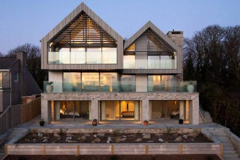 Luxury build with aluminium glazing