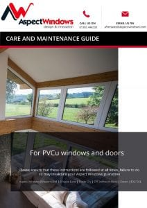 Aspect Windows Care and Maintenance Guide for PVCu Products