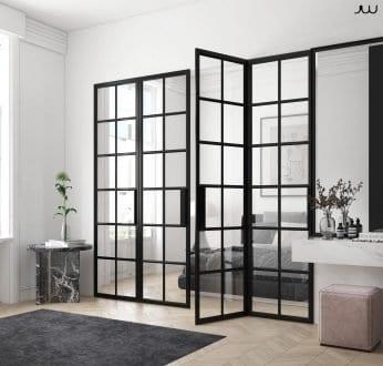 RK Steel bi-folding door internal divide