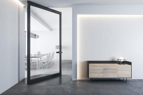 RK Steel Interior Pivot Door