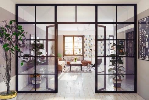 RK Steel interior room divide