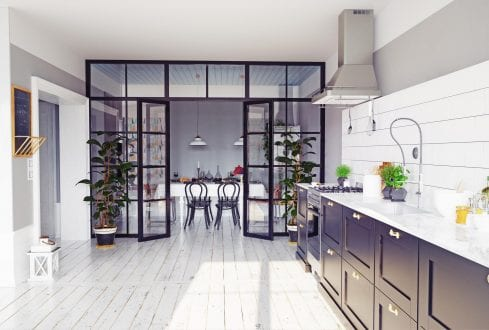 RK Steel room divide with french doors
