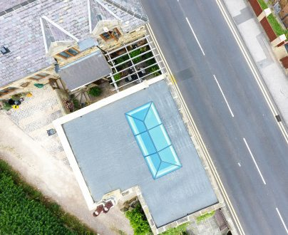 Lantern rooflight aerial view